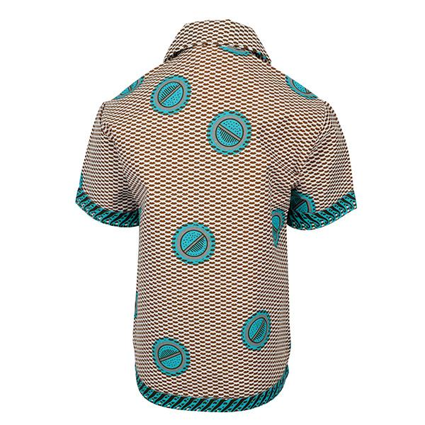 BOYS MULTI COLOR ANKARA PRINT SHIRT