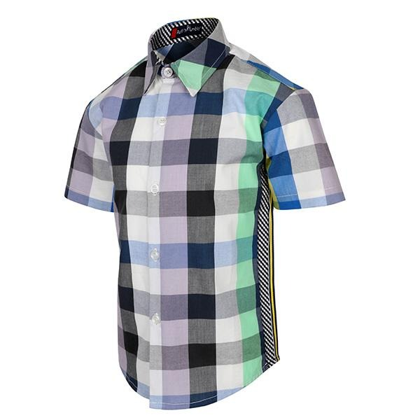 BOYS MULTI COLOR CHECKERED SHIRT