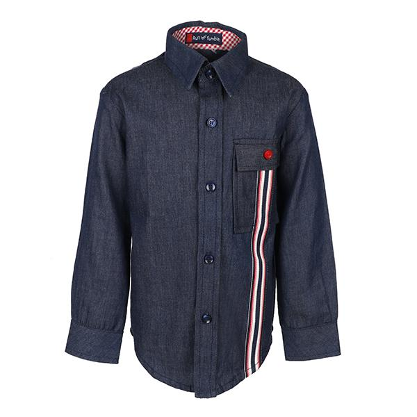 NAVY BLUE DENIM L/S SHIRT