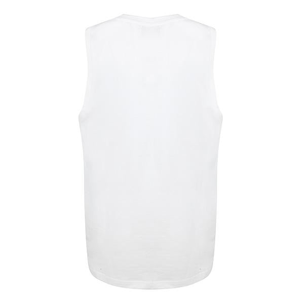 BOYS WHITE NATURAL 83' SLEEVELESS T-SHIRT - ruffntumblekids