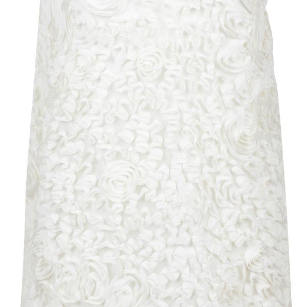 NATURAL TULLE PRINTED DRESS