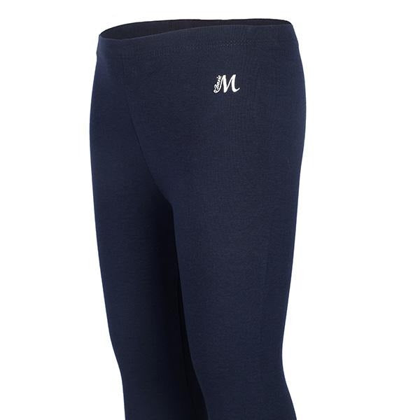 NAVY BASIC SHORT LEGGINGS - ruffntumblekids