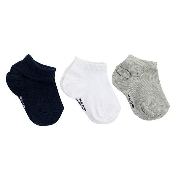NAVY/MULTI 3PC SHORT SOCKS SET