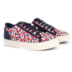 NAVY/RED CHERRY SNEAKERS - ruffntumblekids