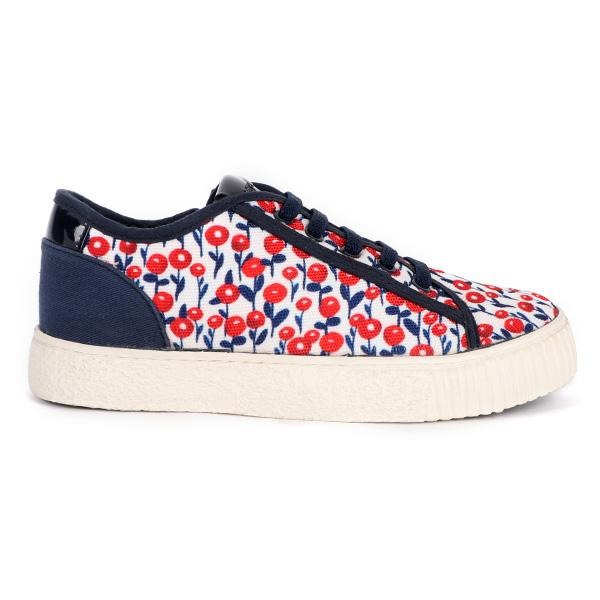 NAVY/RED CHERRY SNEAKERS