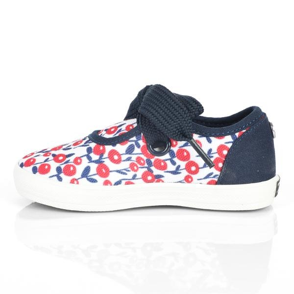 NAVY/RED PRINT SNEAKERS - ruffntumblekids