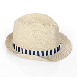 navy blue/white fedora hat-ruffntumble