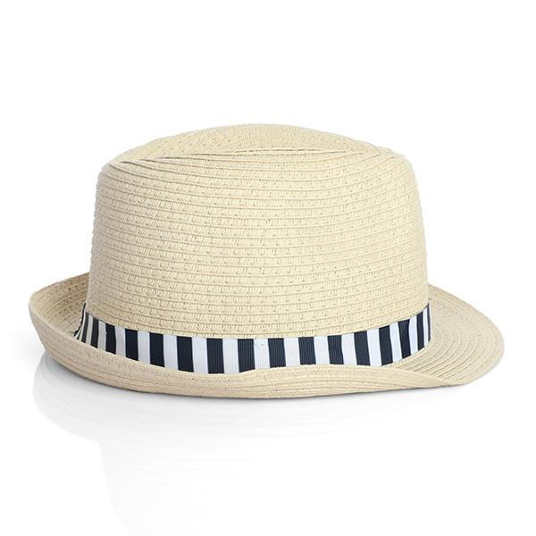 BOYS NAVY/WHITE TAPE FEDORA HAT - ruffntumblekids