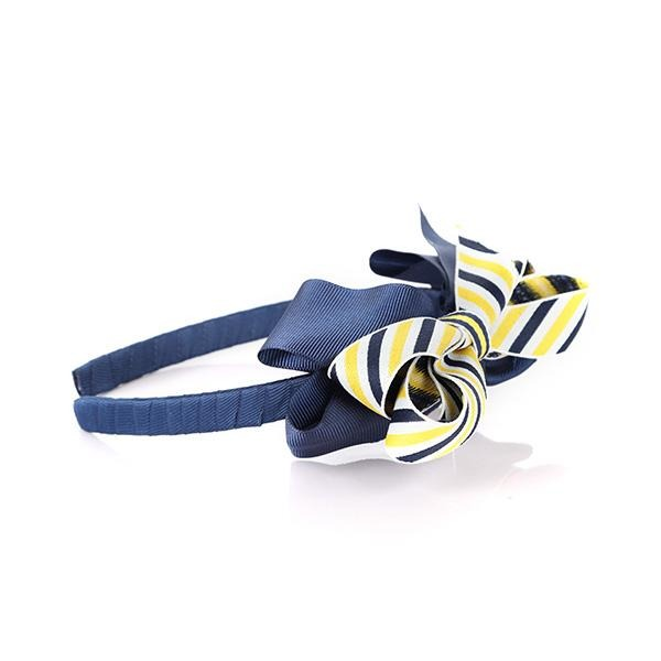 NAVY/YELLOW BOW ALICE BAND