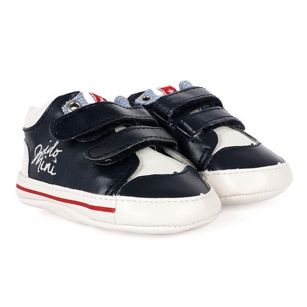 NAVY AND WHITE VELCRO TRAINERS