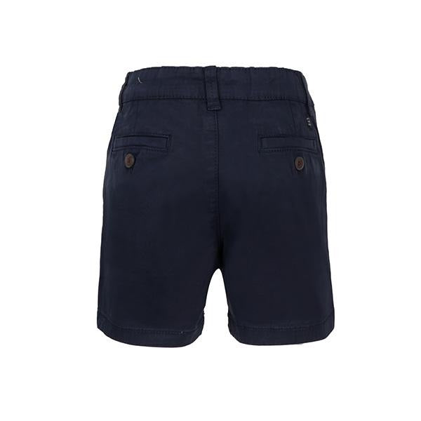 BOYS NAVY BLUE BASIC CHINOS TWILL SHORTS - ruffntumblekids