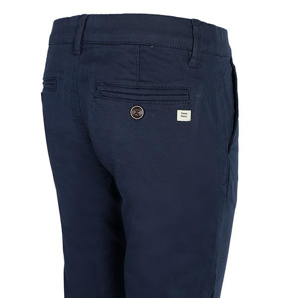 BOYS NAVY BLUE BASIC TWILL CHINOS SHORT - ruffntumblekids