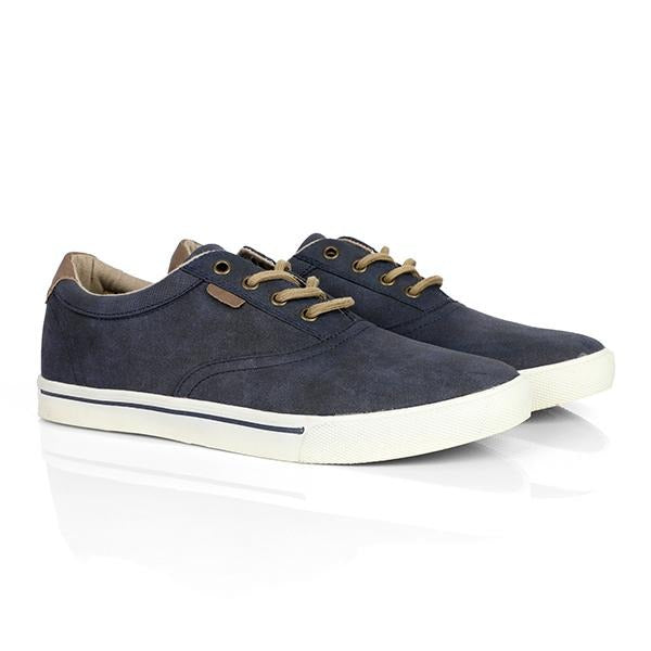 navy blue lace up sneakers-ruffntumble