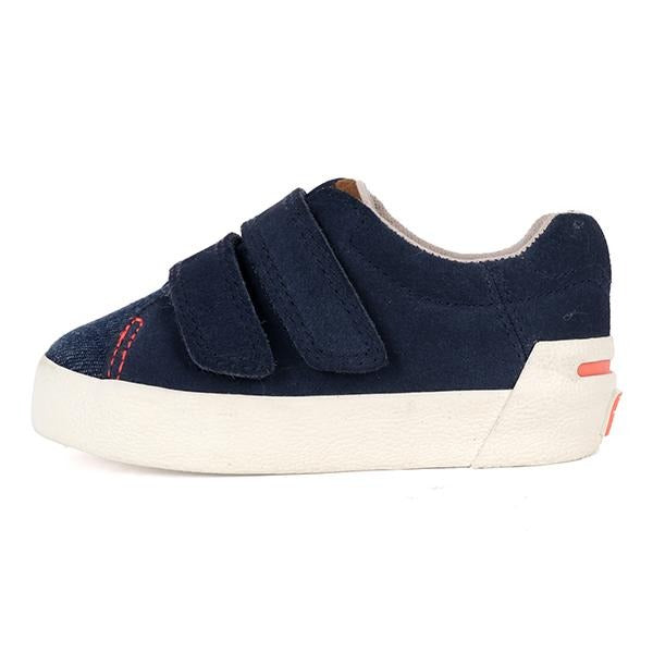 BOYS NAVY BLUE CASUAL VELCRO SNEAKERS