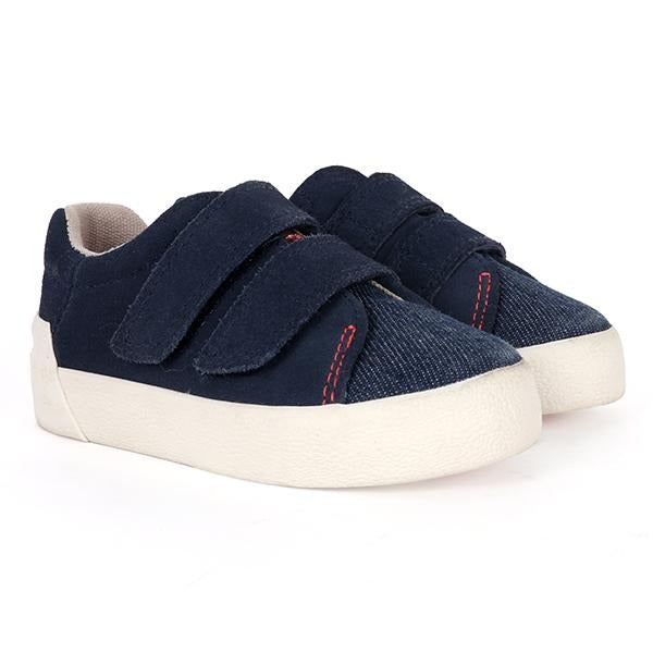 navy blue casual velcro sneakers-ruffntumble