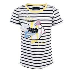 NAVY STRIPED 'FISH' TOP