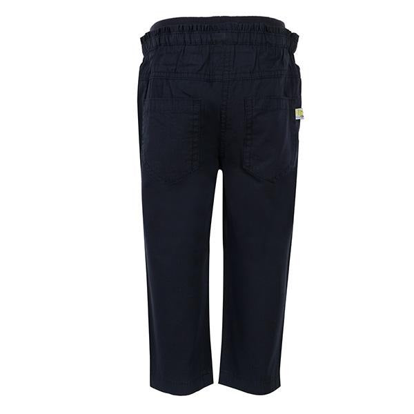 NAVY WOVEN PULL-UP TROUSER