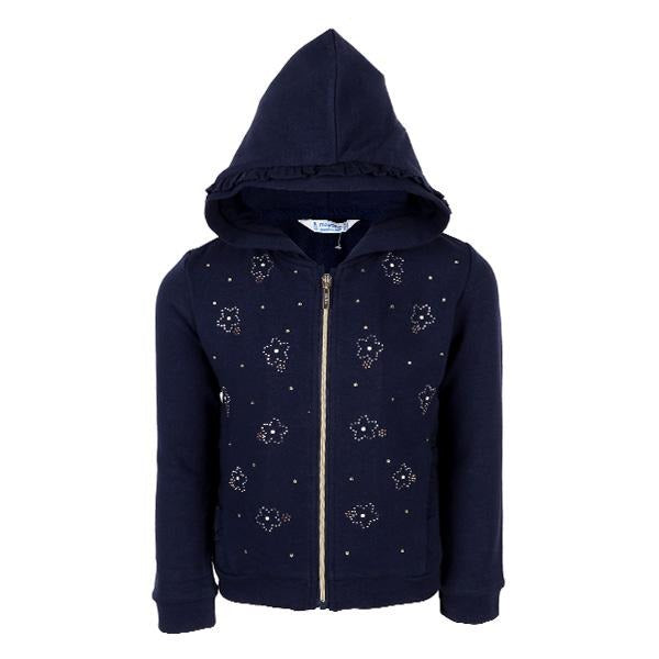 girls navy zipper hoodie jacket_ruffntumblekids