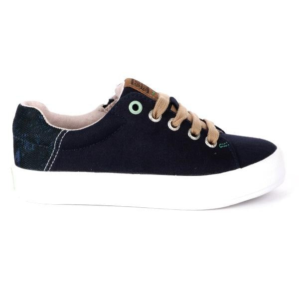 BOYS NAVY BLUE CASUAL LACE UP SNEAKERS