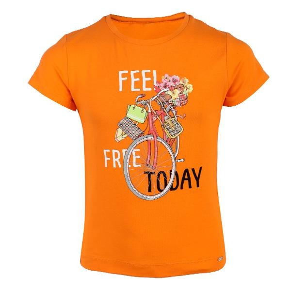 ORANGE 'FEEL FREE' T-SHIRT