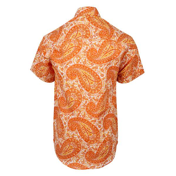 BOYS ORANGE PRINT SHIRT