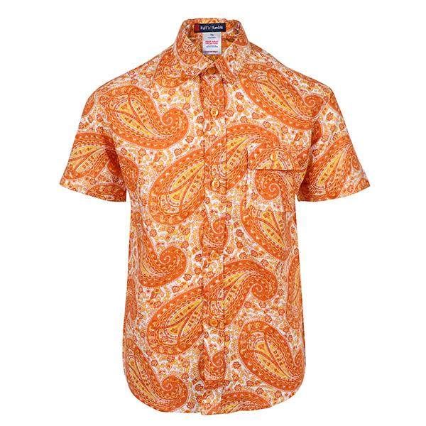 orange short sleeve shirt-ruffntumble