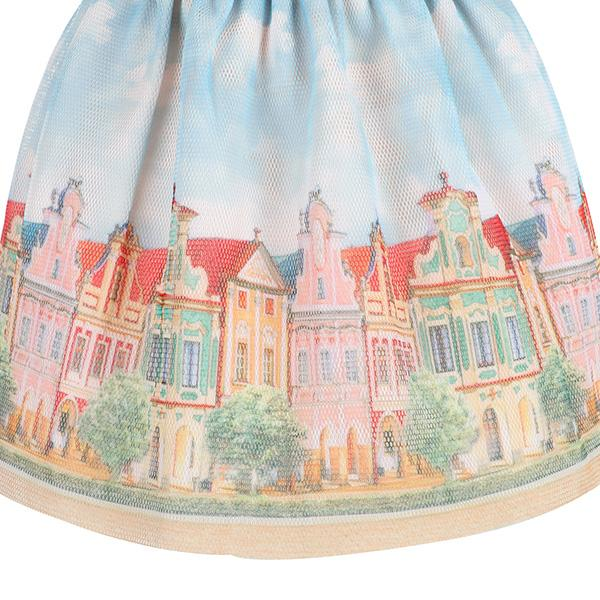 PEACH LANDSCAPE SKIRT