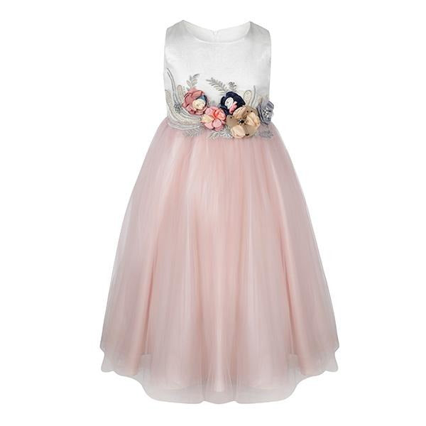PINK EMBELLISHED BALL DRESS - ruffntumblekids