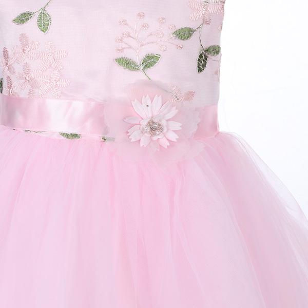 PINK EMBROIDERED TULLE DRESS - ruffntumblekids
