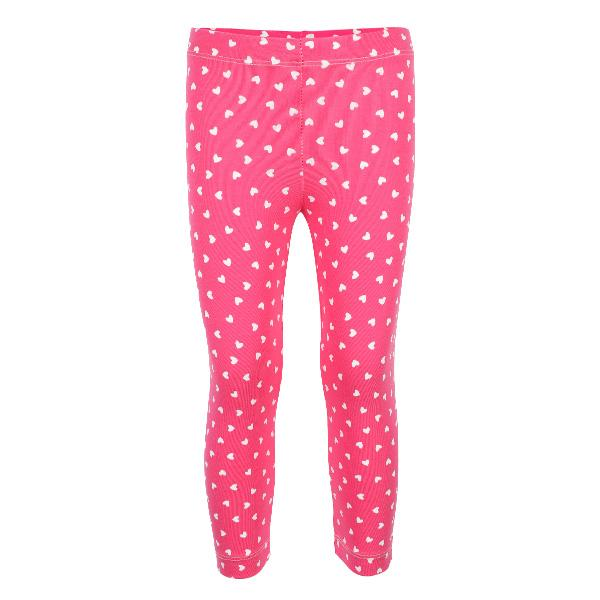 PINK HEARTS PRINT LEGGINGS