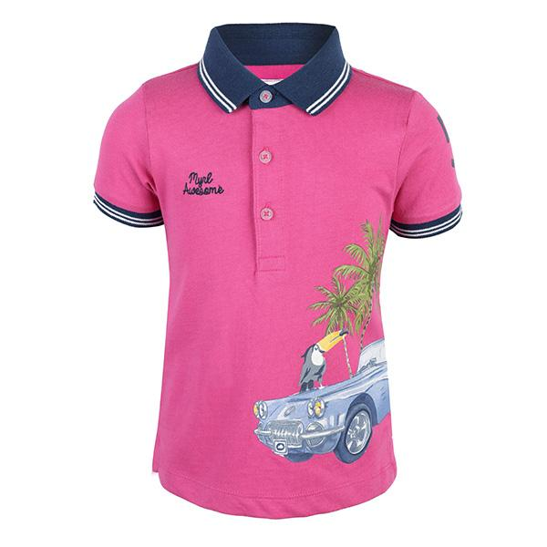 pink short sleeve polo-ruffntumble