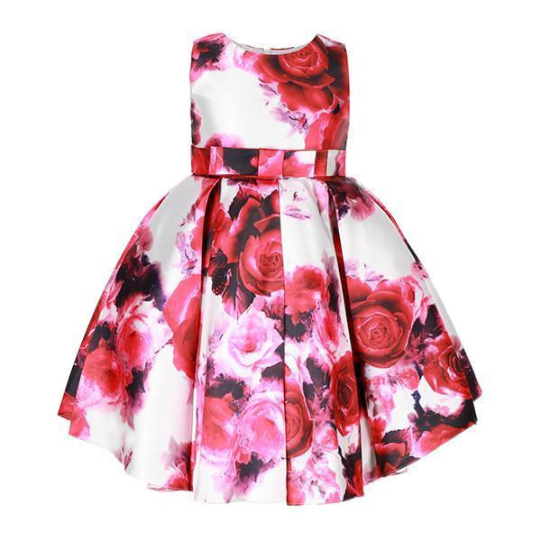 Pink Floral Fit And Flare Dress - ruffntumblekids