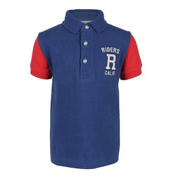 RED/BLUE SHORT SLEEVE POLO