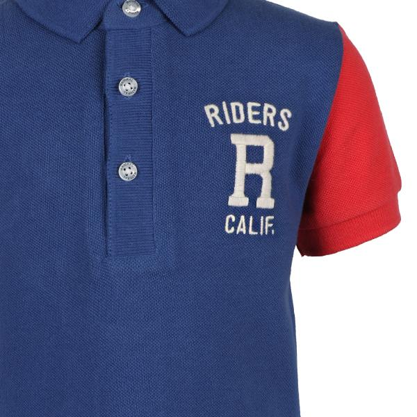 BOYS RED/BLUE SHORT SLEEVE POLO - ruffntumblekids