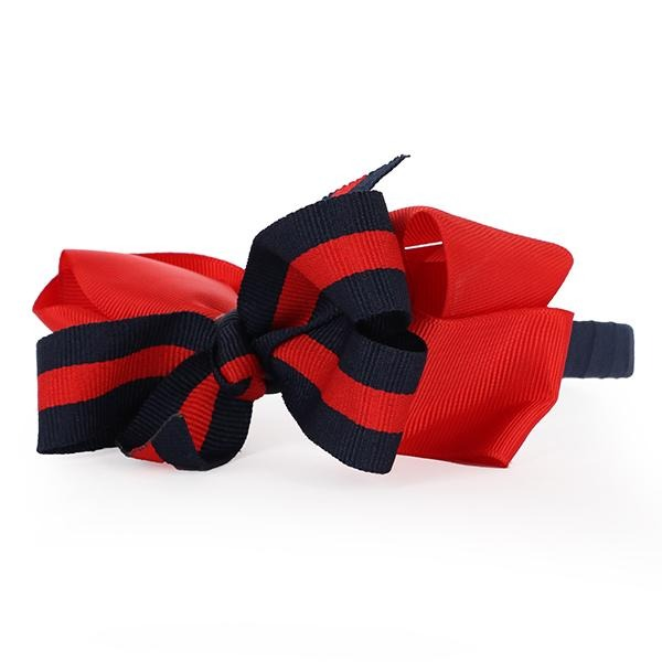 Red/Navy Bow Alice Band