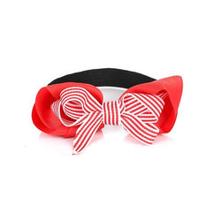 RED/WHITE BOW ELASTIC BAND