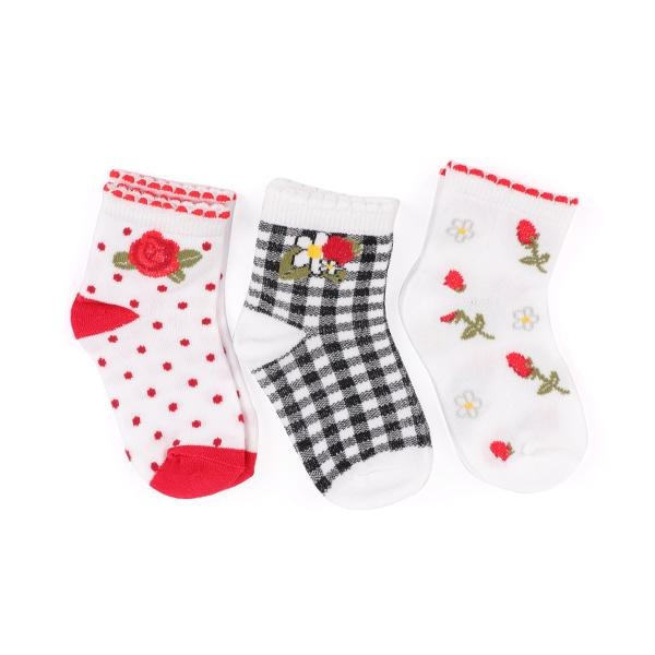 Red 3 Socks Set