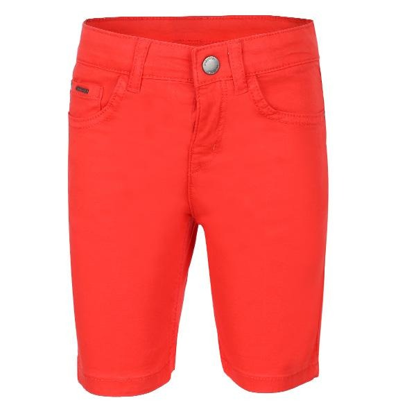 RED 5 POCKETS TWILL SHORTS