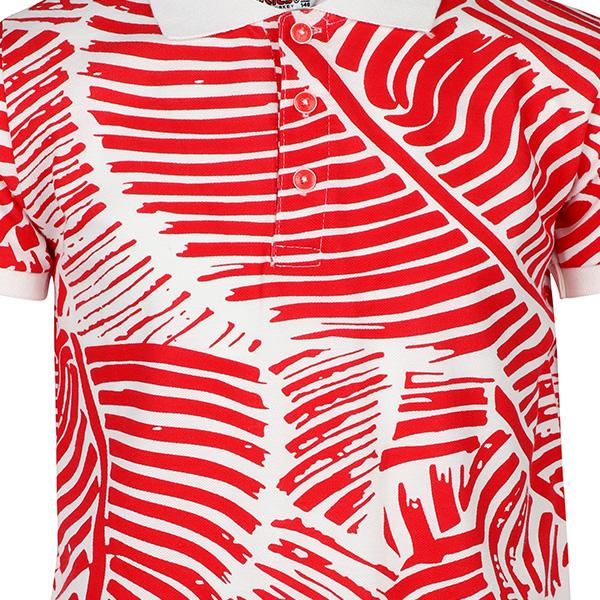 BOYS RED/WHITE POLO