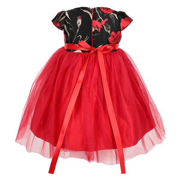 RED BALL DRESS - ruffntumblekids
