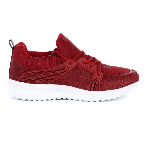 RED CASUAL LACE UP SNEAKERS