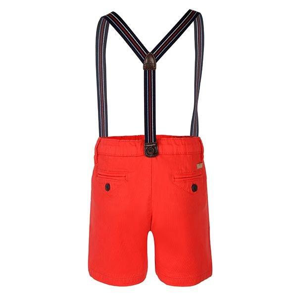 Red Chinos Short & Suspenders