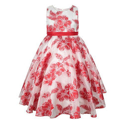 Red/White Floral Print Dress