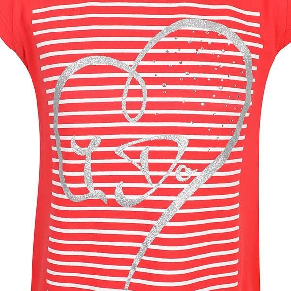 RED 'HEART SHAPE' DESIGNED TEE - ruffntumblekids