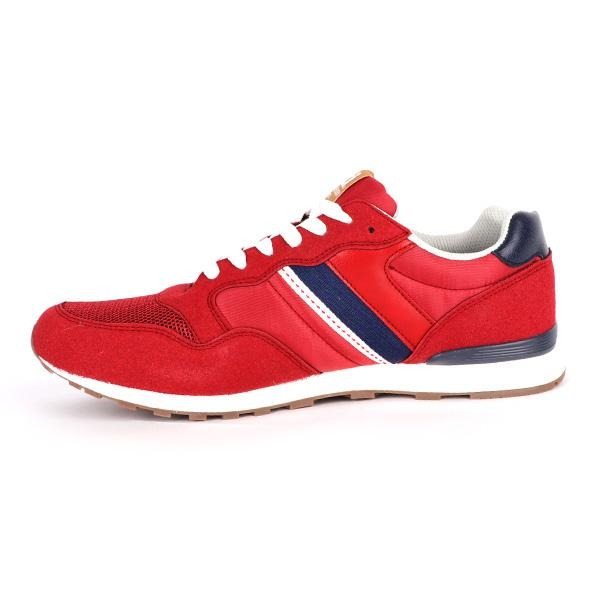 BOYS RED LACE UP SNEAKERS