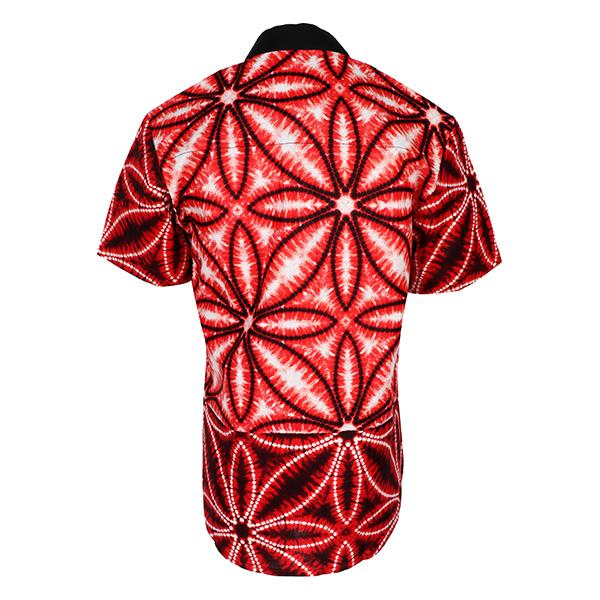 BOYS RED NEHRU COLLAR ANKARA SHIRT - ruffntumblekids