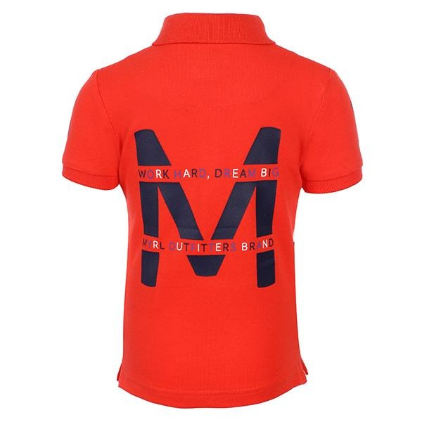 BOYS RED SHORT SLEEVE POLO