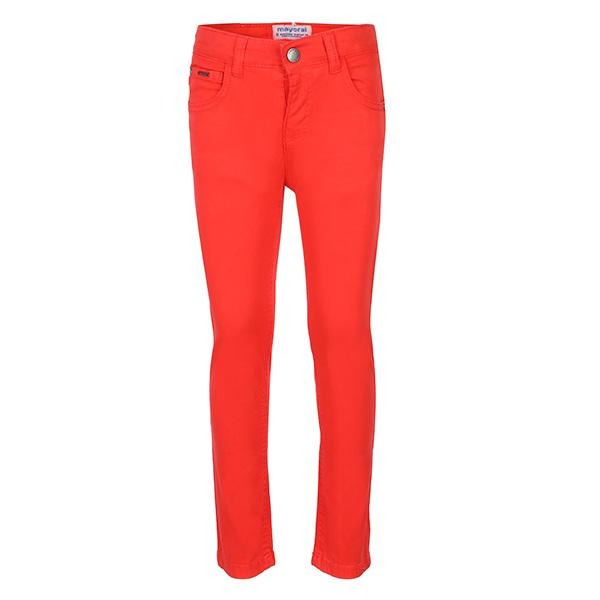 RED SLIM FIT SERGE TROUSER