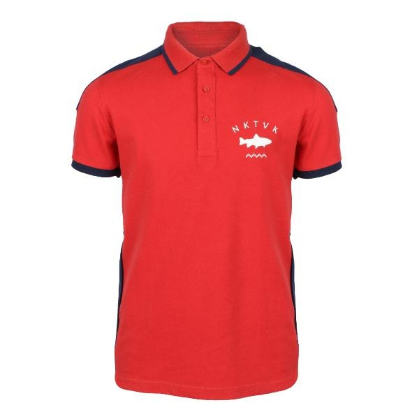 red short sleeve polo-ruffntumble