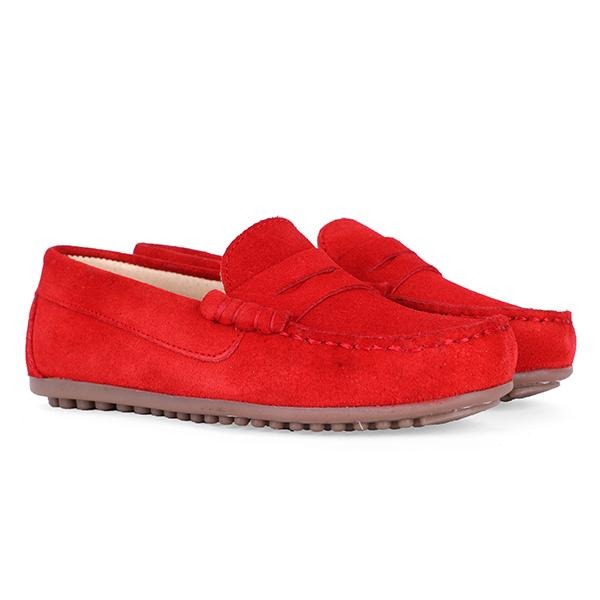 Red Suede Formal Moccasin